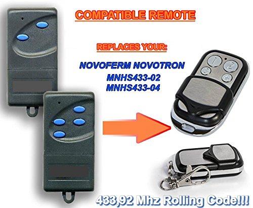 NOVOFERM NOVOTRON mnhs433–02, MNHS433–04Kompatibel Fernbedienung destancia 433,92MHz Rolling Code, 4-canales Ersatz Transmitter zum Besten Preis.