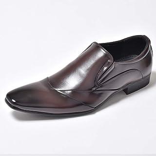 [エムエムワン] ビジネスシューズ スリッポン メンズ 男性の 革靴 皮靴 紳士靴 結婚式 フォーマル 通勤 雨に強い
