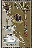 Vintage-Blech-Poster, Alaska's Inside Passage Map Rost,