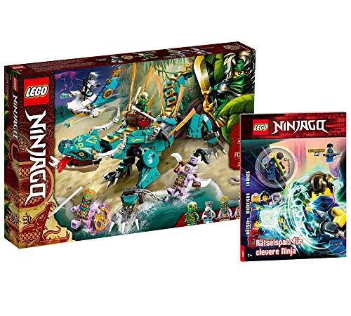 Collectix Lego Set Ninjago 71746 - Juego de figuras de dragón de la jungla y ninjago (cubierta blanda)