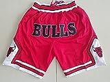 WO Nice Men's Baloncesto Pantalones cortos de baloncesto, Chicago Bulls NBA Pantalones cortos de baloncesto deportes al aire libre Malla Fitness Shorts Baloncesto Entrenamiento Pantalones cortos, Rojo