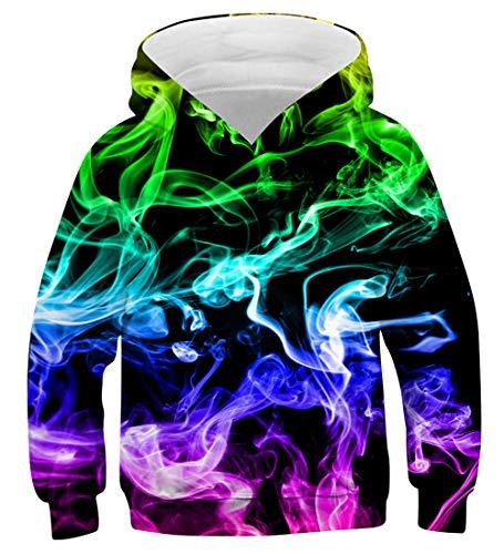 Funnycokid Jungen Pullover Fashion 3D Hoodie für Kinder Teenager