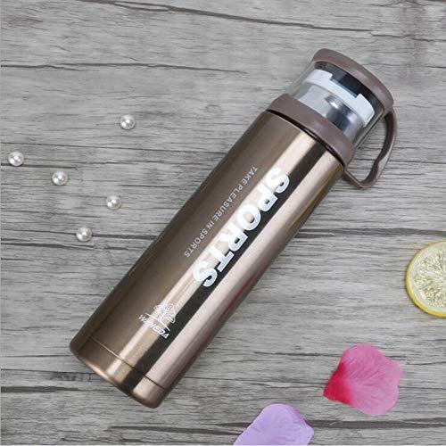BWBWD Termo Botella Termo de 500 ml con Tapa Frascos de vacío de Acero Inoxidable para té Taza Termo Mujer Termo Taza
