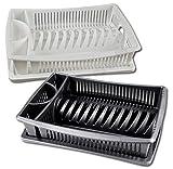Centi Égouttoir à vaisselle avec tablette - gris ou blanc