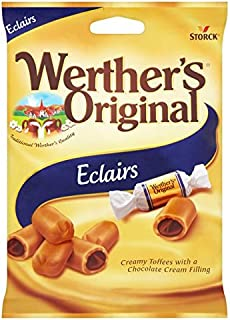 Original Werther's Original Caramel Sweets Eclairs Imported From The UK England British Eclairs Werther's Original Candy Eclairs