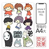 LZWNB Hayao Miyazaki Dragon Cat Bo Girl etiqueta engomada del equipaje del ordenador Notebook Maleta impermeable...