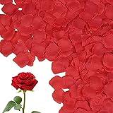 Vicloon 1200 Piezas Pétalos de Rosa,Pétalos de Rosa Artificiales Reutilizable,Confeti Petalos de Rosa Petals para día de San Valentín Decoración,Bodas Decoración,Fiestas,Ambiente Romántico,Proponer