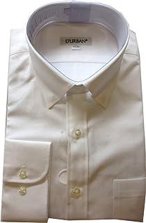 [ダーバン] D'URBAN 日本製 無地 ホワイト ワイシャツ ドレスシャツ 長袖 白 43-86