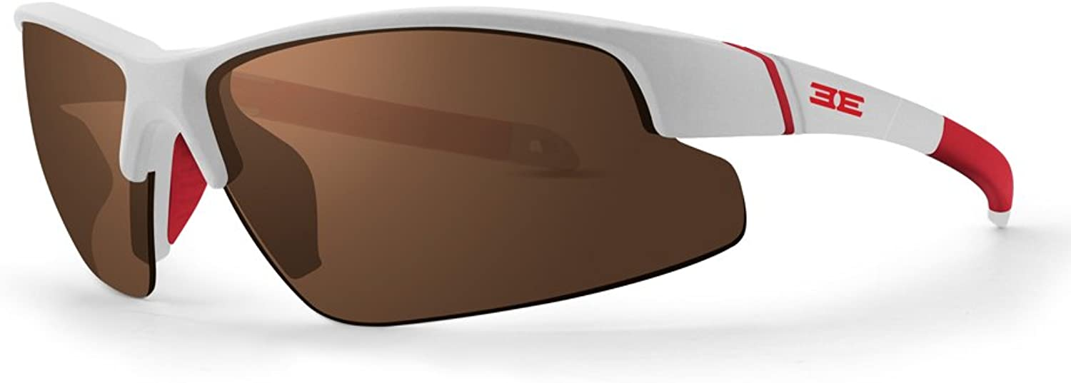 Epoch Bravo White Red Polycarbonate Frame with HighClarity Brown Polarized SuperHydrophobic Lens