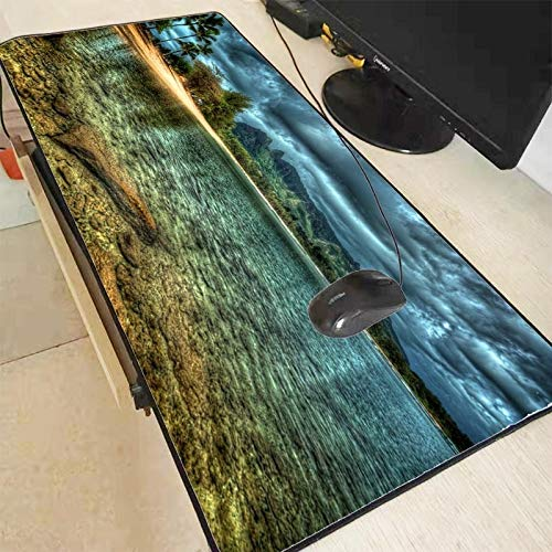 Mouse Pad Ocean Beach Large Gaming Mouse Pad Lock Edge Mouse Mat Keyboard Table Mat Desk Mat for Notebook Laptop Gamer Mousepad Computer Accessories (Color : 300X700X2MM)