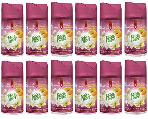 12x Fresh&More Weiße Blume-Melone & Vanille Für Automatische Duftspender, 250ml