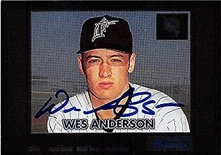 Wes Anderson autographed baseball card (Florida Marlins FT) 2000 Topps Bowman Draft #294 - MLB Autographed Baseball Cards