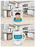 Taza Desayuno Aquí Toma el Mejor Secretario del Mundo,Regalo Original,Ceramica 330 ML,Fabricado por KIVIKE.