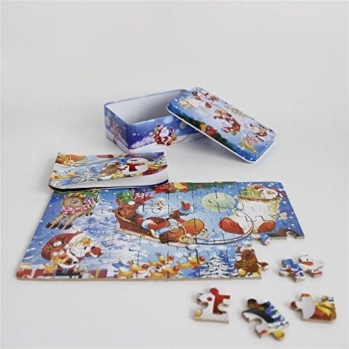 FunnyGoo Puzzle colorato con Babbo Natale in legno Buon Natale Babbo Natale in una scatola ottimo...