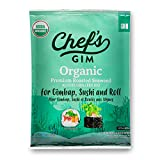 [ USDA Organic ] Roasted Seaweed Sheet [ 10 Sheets ] Vegan, Gluten Free, Healthy Sweed Snacks l Good Source of Iodine, Healthy for Kids & Adults by [Chef's Gim] For Gimbab, Sushi and Roll