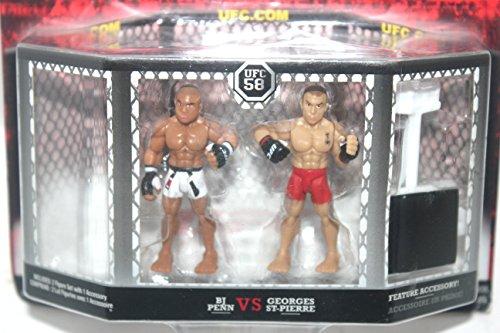 UFC Ultimate Fighting Jakks Pacific Series 1 Micro Figure 2Pack B.J. Penn vs. Georges St. Pierre UFC 58