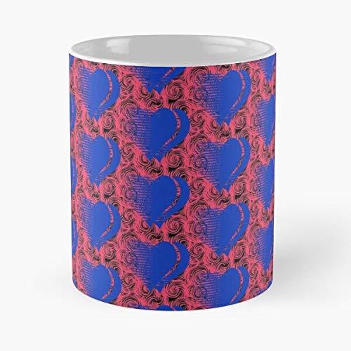 Nuevo diseño de chica de compras para la corriente 2020 doble completo simple Amazon mangas famosas tendencias mundo corazón diseños en línea mejor taza de café de cerámica de 11 oz