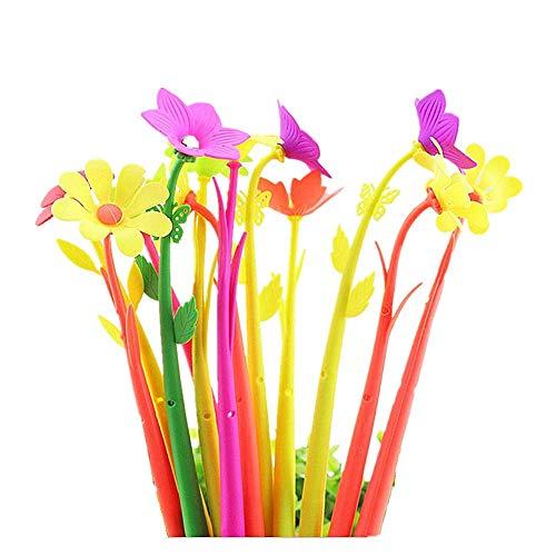 Cosanter - Set di 12 penne a sfera con cornice a forma di fiore