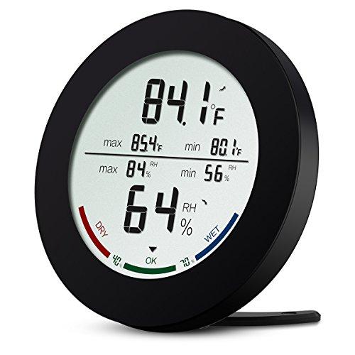 Brifit Digitales Thermo-Hygrometer, Innen Thermometer Hygrometer, Temperatur Luftfeuchtigkeit Messgerät mit LCD-Display, MIN/MAX-Aufzeichnungen, Temperaturtrendanzeige, ℃/℉ Schalter