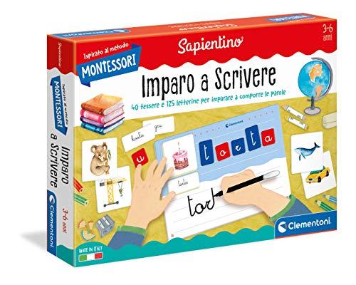 Clementoni - 16270 - Montessori - Imparo a Scrivere - Made in Italy, gioco Montessori 3 anni, gioco educativo metodo montessoriano (Versione in Italiano)