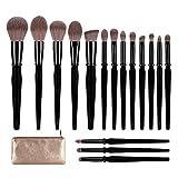TEXAMO Makeup Brush Set for Powder, Kabuki, Foundation, Highlighters, Blush, Contour, Eye Shadows,...