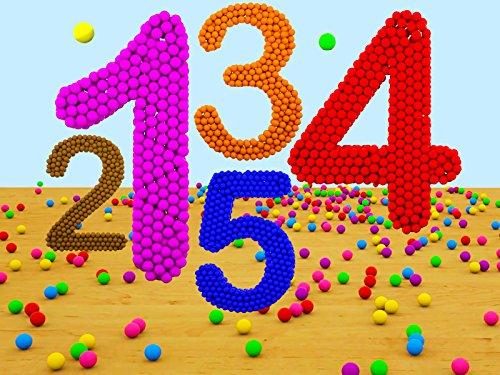 Lerne Zahlen mit farbigen Kugeln