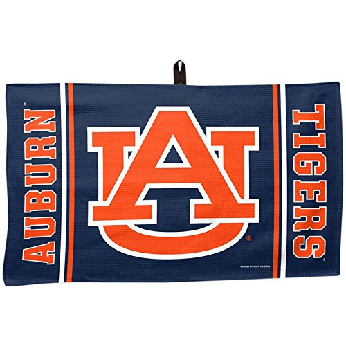 """Luxury Waffle Weave Collegiate Golf Towel and Center Loop 