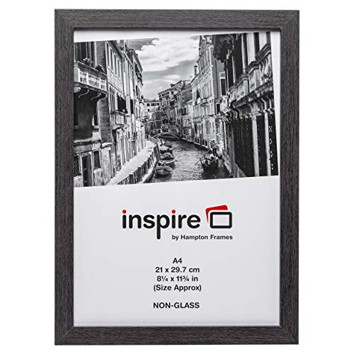 Hampton Frames Photo Album Company Urkunde A4 Grauer Papierrahmen aus Holz