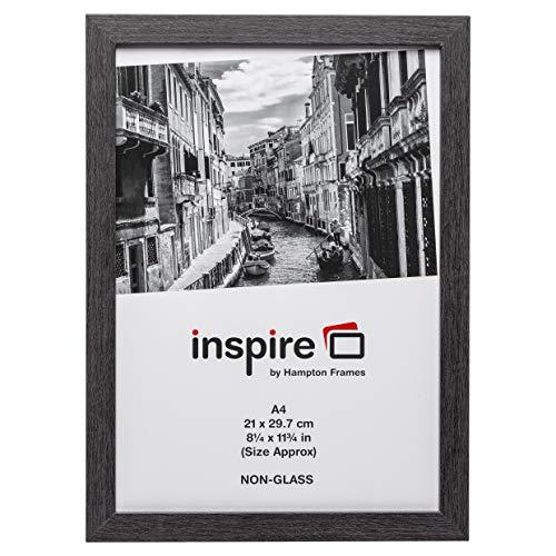 The Photo Album Company Westminster MDF Holz A4 21x30 cm grau zertifizierter Fotorahmen ohne Glasblendenscheibe WESA4GRY