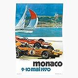 Grand 1 Formula Vintage Prix F1 Carlo Monaco Ferrari Monte Racing Automobile, Impressionnantes Affiches pour la décoration de...