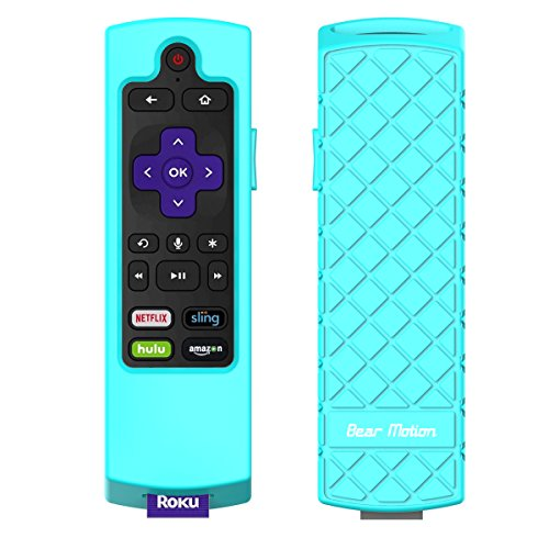 Bear Motion Case for Roku 2017/2018 Remote Controller - Silicone Shock Resistant Cover for Ruko 2017 Remote Controller (Streaming Stick/Stick + / Express/Express + 2017/2018, Green)