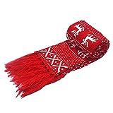 Topdo Bufanda de Lana con Bufanda Mantener Caliente de Las Mujers Pareja Primavera Invierno Hombres Elegante Cómodo Navidad Bufanda 1 Pieza 160cm Rojo