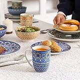 Vancasso Tafelservice Porzellan, Mandala 32 teiliges Essgeschirr Kombiservice, handbemaltes Geschirrset für 8 Personen, böhmischer Stil - 8