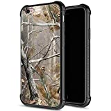 iPhone 6s Case,9H Tempered Glass iPhone 6 Cases for Men Boys,Cool Camouflage Tree Pattern Design Printing Shockproof Anti-Scratch Case for Apple iPhone 6/6s 4.7 inch Camo Tree