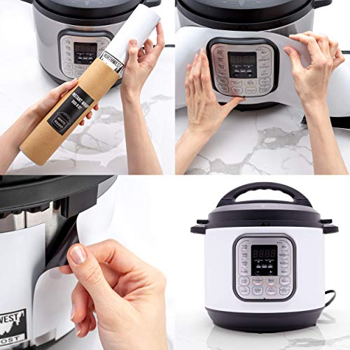 Duo 8 Quart Matte Black Wrap. 6 Protect your Instant Pot Better than Instapot Stickers & Decals Great gift for cooks!