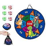 Qians Dart Brettspiel Mit 6 Sticky Balls Indoor Outdoor Party Eltern Kind Spiel Dart Board Set für...