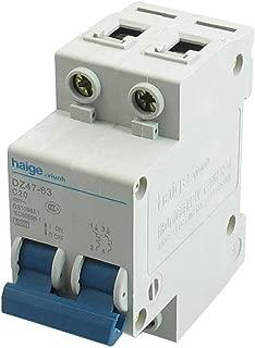 LDEXIN AC Contactor DZ47LE C20 400V 20A 6000 Amp 2 Pole Universal Circuit Control DIN Rail Mount Miniature Circuit Breaker