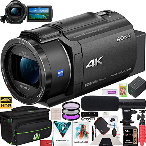 Learn More About Sony FDR-AX43 4K UHD Handycam Camcorder with ZEISS 20x Optical Zoom Lens AX43 Video...
