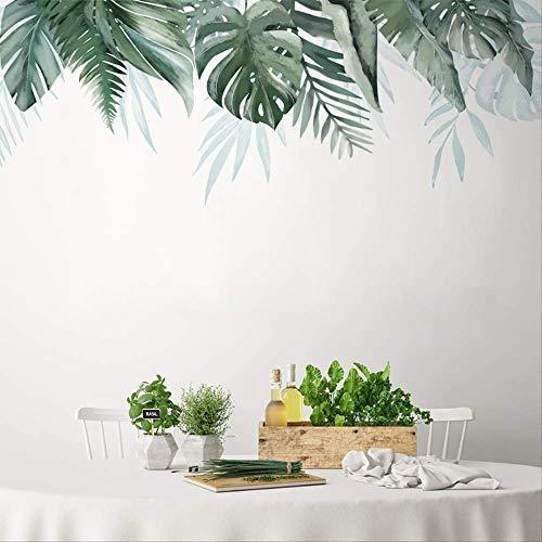 LWJZQT Wandtattoos Tropische Pflanze Baum Blätter Wandaufkleber Wandtattoos Für Haus Wohnzimmer Schlafzimmer Shop Dekoration