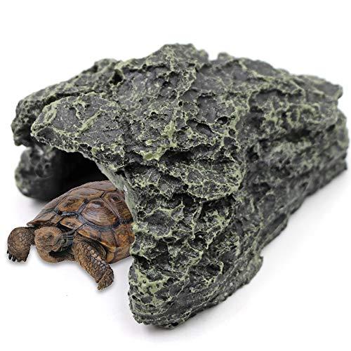 M.Z.A - Decorazione per acquario, in resina, per grotta di rettili, in resina, per acquario, per piccole lucertole, tartarughe, anfibi, pesci (piccolo)