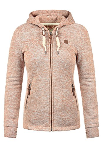 DESIRES Thory Damen Fleecejacke Sweatjacke Jacke Mit Kapuze Und Daumenlöcher, Größe:L, Farbe:Ma. Rose M (4203M)