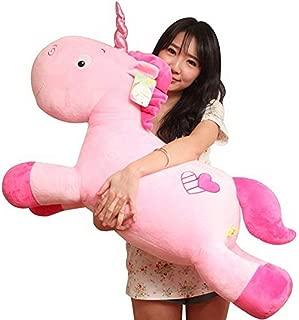 Missley Unicornio de peluche suave y suave de unicornio (20in/50CM, Pink)