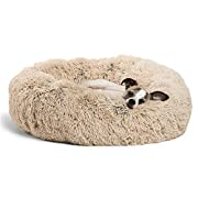 Supports better sleep: Thanks to its round shape, our high-quality donut coddler puppy bed is ideal for pets who love to curl up! The raised rim creates a sense of security and provides head and neck support, while the super-soft filling offers joint...
