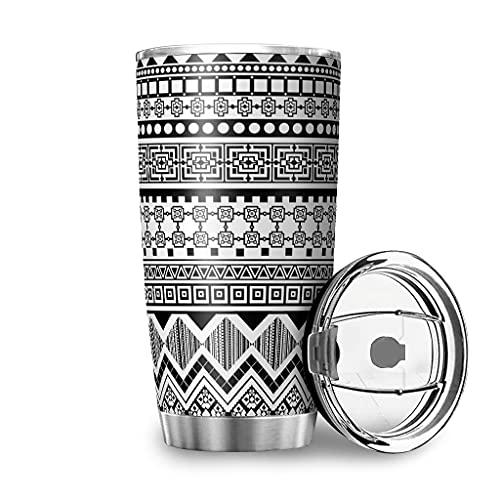 YshChemiy Aztec Diamond - Vaso con tapa (600 ml), color blanco