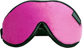 Dream Essentials Escape Luxury Sleep Mask with Eye Cavities, Earplugs and Carry Pouch (Hot Pink)