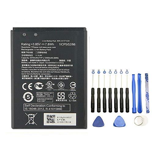 EspaceCyber® - Batteria B11P1428 per ASUS ZenFone 2 Laser ZE500KG ZenFone Go ZB452KG ZenFone Go ZB450KL Zenfone 2 Laser ZE500KL + kit di attrezzi 13 pezzi