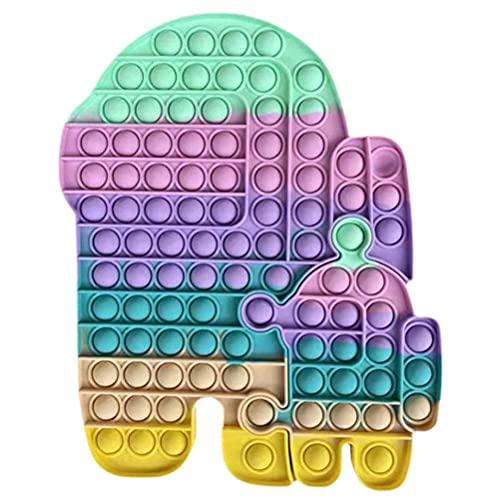 BST-MAI Push Bubble Pop Bubble Giocattolo Sensoriale Pop It, Big Size Simple Dimple Giocattolo Sensoriale, Antistress Giocattolo Sensoriale per Autismo ADHD Bisogno Speciale Anti-Ansia Ansia Sollievo