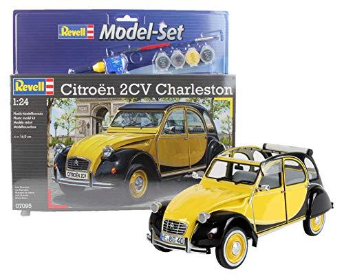 Revell Modellbausatz Auto 1:24 - Citroen 2CV Ente Charleston im Maßstab 1:24, Level 4, originalgetreue Nachbildung mit vielen Details, , Model Set mit Basiszubehör, 67095