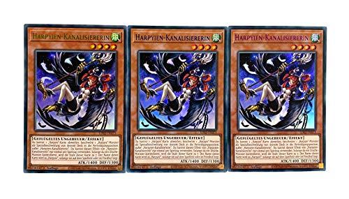 Konami - LDS2-DE073 - Harpyien-Kanalisiererin - Colorful Ultra Rare - Yu-Gi-Oh! - Deutsch - mit GECO Versandschutz