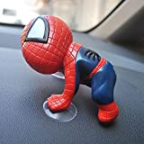 kgftdk Auto Armaturenbrett Dekoration Schöne Saugnäpfe Spiderman Autoinnenausstattung Kreative...